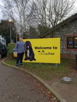 Bear Credit Director James at the Dogs Trust